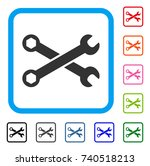 wrenches icon. flat gray iconic ...