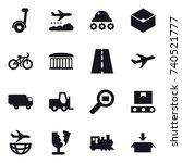 16 vector icon set   segway ... | Shutterstock .eps vector #740521777