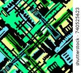 seamless grunge geometric... | Shutterstock .eps vector #740525623