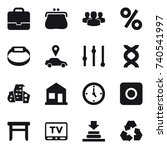 16 vector icon set   portfolio  ... | Shutterstock .eps vector #740541997