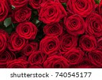 Stock photo a lot of red roses 740545177