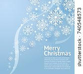 merry christmas art. vector and ... | Shutterstock .eps vector #740548573