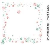 square christmas border or... | Shutterstock .eps vector #740551303