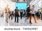 anonymous blurred people... | Shutterstock . vector #740563987