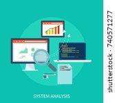system analysis | Shutterstock .eps vector #740571277