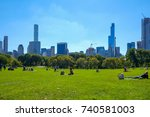 new york  usa   oct 1  2017 ... | Shutterstock . vector #740581003