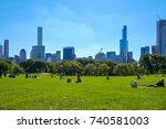 new york  usa   oct 1  2017 ... | Shutterstock . vector #740581003