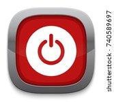 power button icon | Shutterstock .eps vector #740589697