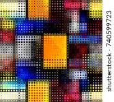 seamless background. geometric... | Shutterstock .eps vector #740599723