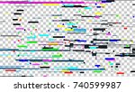glitch noise texture. broken...   Shutterstock .eps vector #740599987