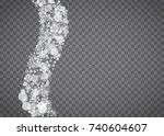 blizzard snowflake on... | Shutterstock .eps vector #740604607