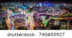 abstract london panorama | Shutterstock . vector #740605927