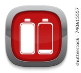 low and high battery icon | Shutterstock .eps vector #740615557