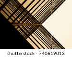 urban geometry  looking up to... | Shutterstock . vector #740619013