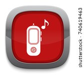 music player icon | Shutterstock .eps vector #740619463