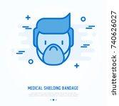medical shielding bandage thin... | Shutterstock .eps vector #740626027
