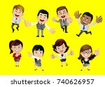 businesspeople set | Shutterstock .eps vector #740626957