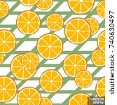 seamless pattern of bright... | Shutterstock .eps vector #740630497
