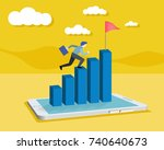 businessman working with...   Shutterstock .eps vector #740640673