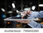 industry 4.0 concept  smart... | Shutterstock . vector #740643283