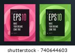 set of abstract colorful...   Shutterstock .eps vector #740644603