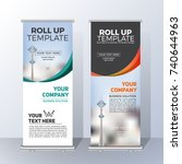 vertical roll up banner... | Shutterstock .eps vector #740644963