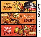 live music concert or band... | Shutterstock .eps vector #740660077