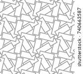 light gray geometric ornament.... | Shutterstock .eps vector #740663587