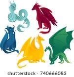 vector flat cartoon colored...   Shutterstock .eps vector #740666083