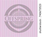 offspring pink emblem | Shutterstock .eps vector #740673523