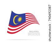 malaysia national flag waving... | Shutterstock .eps vector #740692387