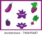 learn the colors  kids are...   Shutterstock .eps vector #740695687