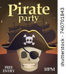 pirate party invitation...   Shutterstock .eps vector #740701843