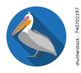 icon of the pelican. | Shutterstock .eps vector #740702197