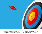 archery target and arrow 3d on... | Shutterstock .eps vector #740709667
