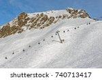 winter mountain landscape   ski ... | Shutterstock . vector #740713417