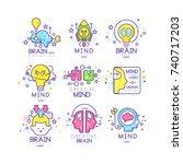 mind energy original logo...   Shutterstock .eps vector #740717203