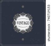 vector calligraphic logo... | Shutterstock .eps vector #740719153