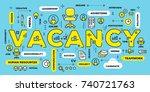 hiring people concept. vector... | Shutterstock .eps vector #740721763