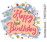 hand drawn doodle vector of... | Shutterstock .eps vector #740722627