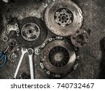 used car spare parts | Shutterstock . vector #740732467
