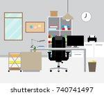vector illustration of modern... | Shutterstock .eps vector #740741497