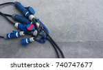 electric wires line for video...   Shutterstock . vector #740747677