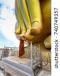 biggest golden buddha statue in ... | Shutterstock . vector #740749357