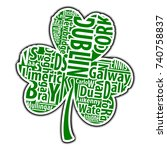 irish shamrock vector art with... | Shutterstock .eps vector #740758837
