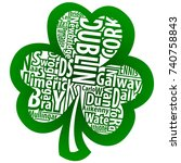 irish shamrock vector art with... | Shutterstock .eps vector #740758843
