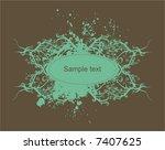 decorative  vintage  floral... | Shutterstock .eps vector #7407625