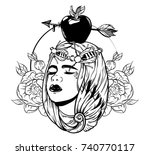 vector hand drawn illustration... | Shutterstock .eps vector #740770117