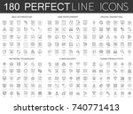 180 modern thin line icons set... | Shutterstock .eps vector #740771413