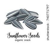 vector sunflower seeds in... | Shutterstock .eps vector #740771797